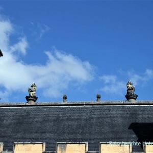 Das Dach der großen Halle ...