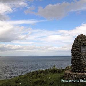 Schöne Aussicht aufs Meer in Richtung Äußere Hebriden ...