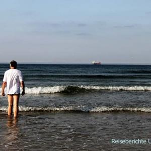 Inverboyndie Beach: Vorsichtiges Bad in der Nordsee ...
