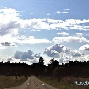 ... auf dem Weg zur Queen nach Balmoral Castle sehen wir schöne Wolkengebilde ...