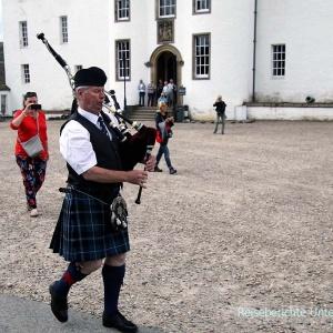 Blair Castle: Schottenrock und Dudelsack ...