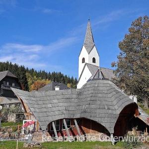 - auf der Fahrt in die Steiermark: Sooboth mit der Jakobskirche ...